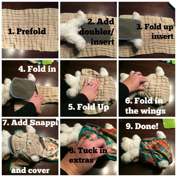 Nighttime Cloth Diapering with a prefold and charcoal bamboo insert -- stay leak free all night even with a heavy wetter!